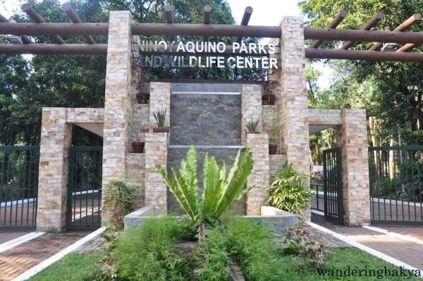 Entrance of Ninoy Aquino Parks and Wildlife Center