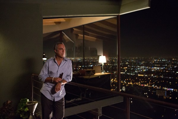 Harry Bosch (Titus Welliver) in his house on stilts in Hollywood Hills. Photo from washingtonpost.com