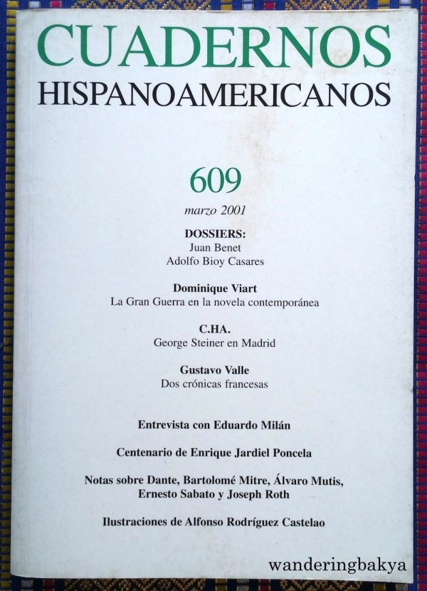 Cuadernos Hispanoamericanos. I do not know why I even have this.
