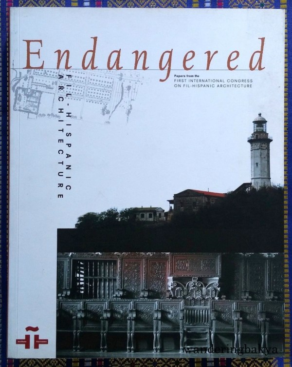 Endangered: Fil-Hispanic Architecture Papers from the First International Congress on Fil-Hispanic Architecture. I read this last year, and it has photos of my town's cemetery. ☺