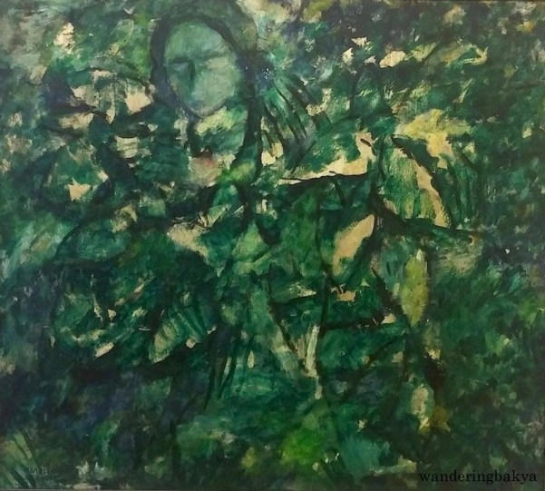 Halamanan (Garden), 1965 (Oil on wood). Collection of Vincent H. Lopez, Jr.