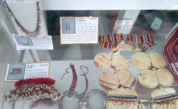 Ilongot necklace, beaded Ilongot comb, Ilongot battling (earrings) and Ilongot male decorative necklace all from Nueva Vizcaya. Photo by Che.