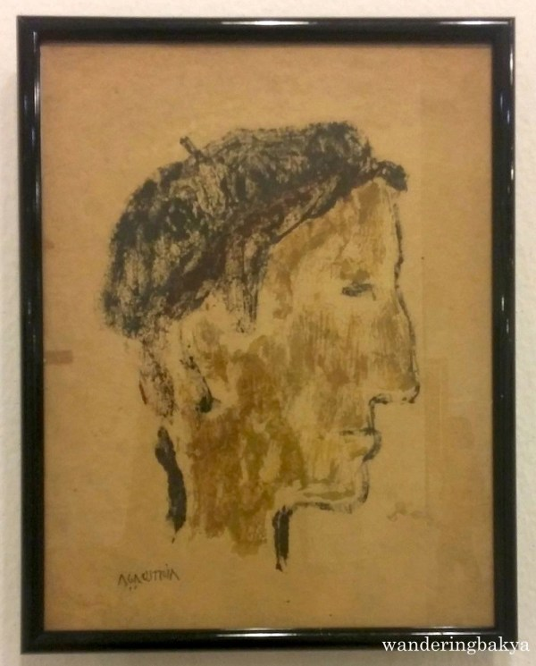 Self-Portrait (Monoprint). Collection of Antonio Austria.