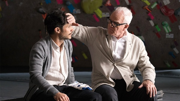 Mozart in the Jungle's Rodrigo de Souza (Gael García Bernal) and Thomas Pembridge (Malcolm McDowell). Photo from variety.com