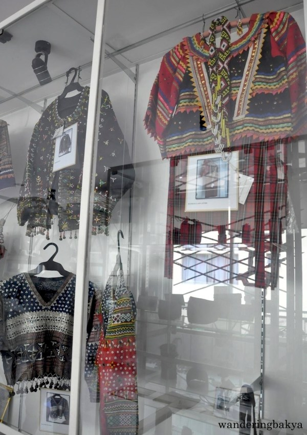 Badjao Blouse and Mandalay Lady Attire (top) and Bagobo and Bilaan Blouses (bottom)