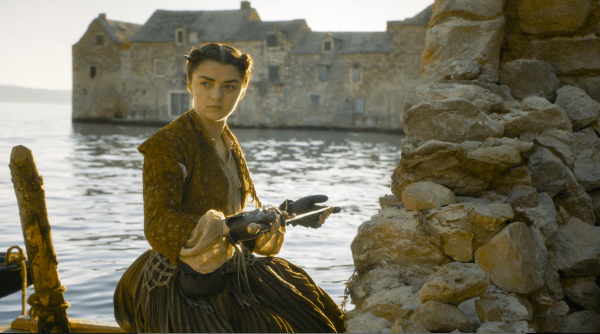 Game of Thrones' Arya Stark (Maisie Williams) and Needle. Photo from bustle.com