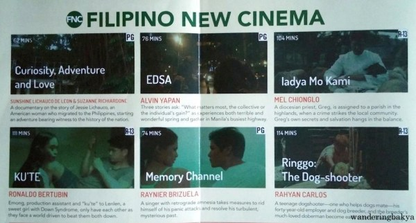 World Premieres Film Festival Filipino New Cinema fims