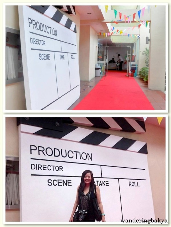 A red carpet and a giant clapper (?) awaited guests. Of course, I could not resist the photo opportunity. ☺