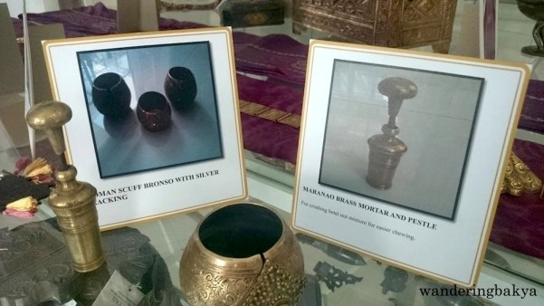 Maranao Brass Mortar and Pestle for crushing betel nut mixture for easier chewing. Photo by SPRDC