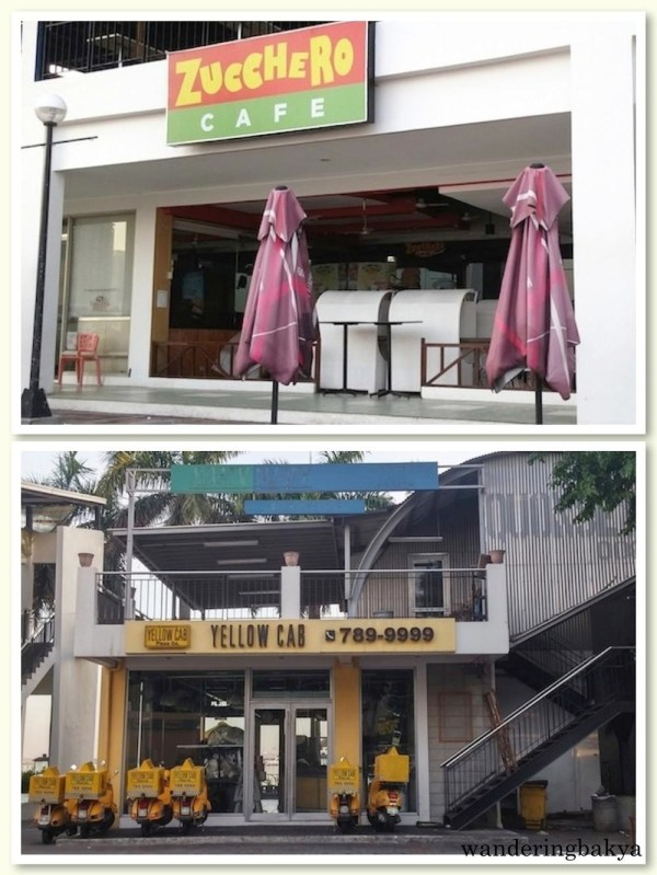 Zucchero Café and Yellow Cab in Harbour Square