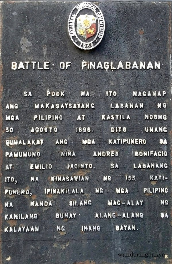 The Battle of Pinaglabanan Marker
