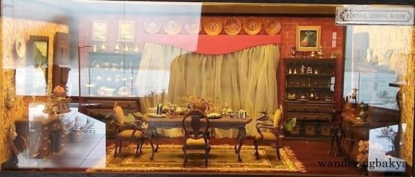 Miniature formal dining room