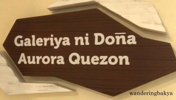 Doña Aurora Quezon Gallery. The viewing public are not allowed to enter the room but are given the chance to look at and take photos of the contents of the room.