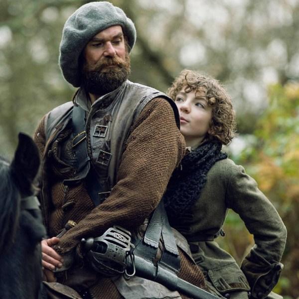 Outlander's Murtagh Fraser (Duncan Lacroix) and Fergus (Romann Berrux). Photo from outlander-online.com