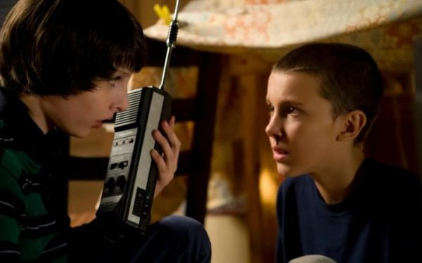Stranger Things' Eleven or El (Millie Bobby Brown) and Mike Wheeler (Finn Wolfhard). Photo from telegraph.co.uk