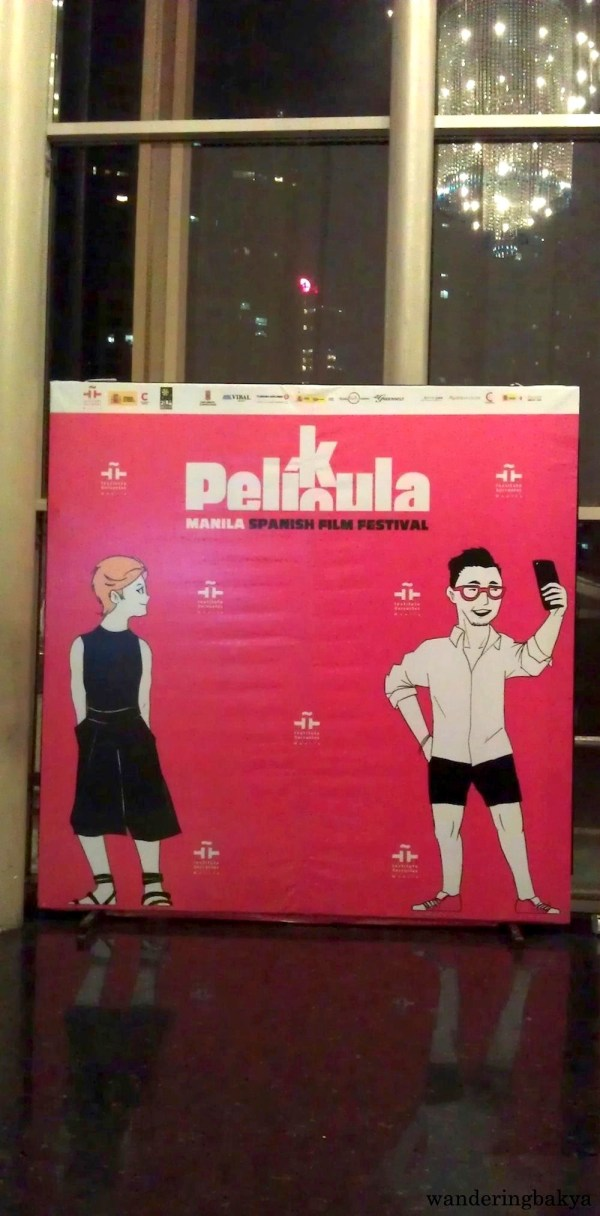 The Pelikula/Película: Manila Spanish Film Festival 2016 photo wall near the escalators of Greenbelt 3 Cinemas