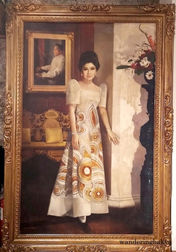 A painting of former First Lady of the Philippines Imelda R. Marcos. The painting within the painting is former President Ferdinand E. Marcos.