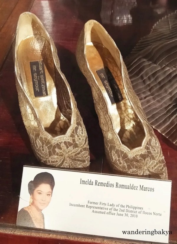 The Stuart Weltzman for Mr. Seymour shoes that Mrs. Imelda Marcos paired with the outfit above.