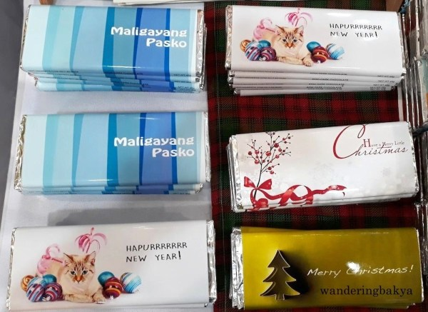 The semi-dark chocolate bars have more playful messages on the wrapper. These are perfect for the holiday season.