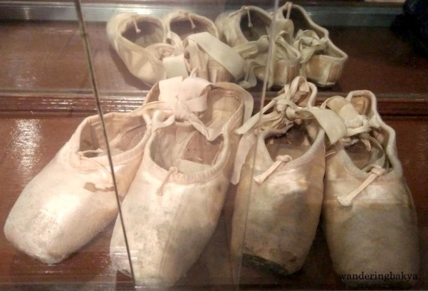 Shoes of Philippine Prima Ballerina and Artist Director of Ballet Manila Lisa Teresita Pacheco Macuja Elizalde