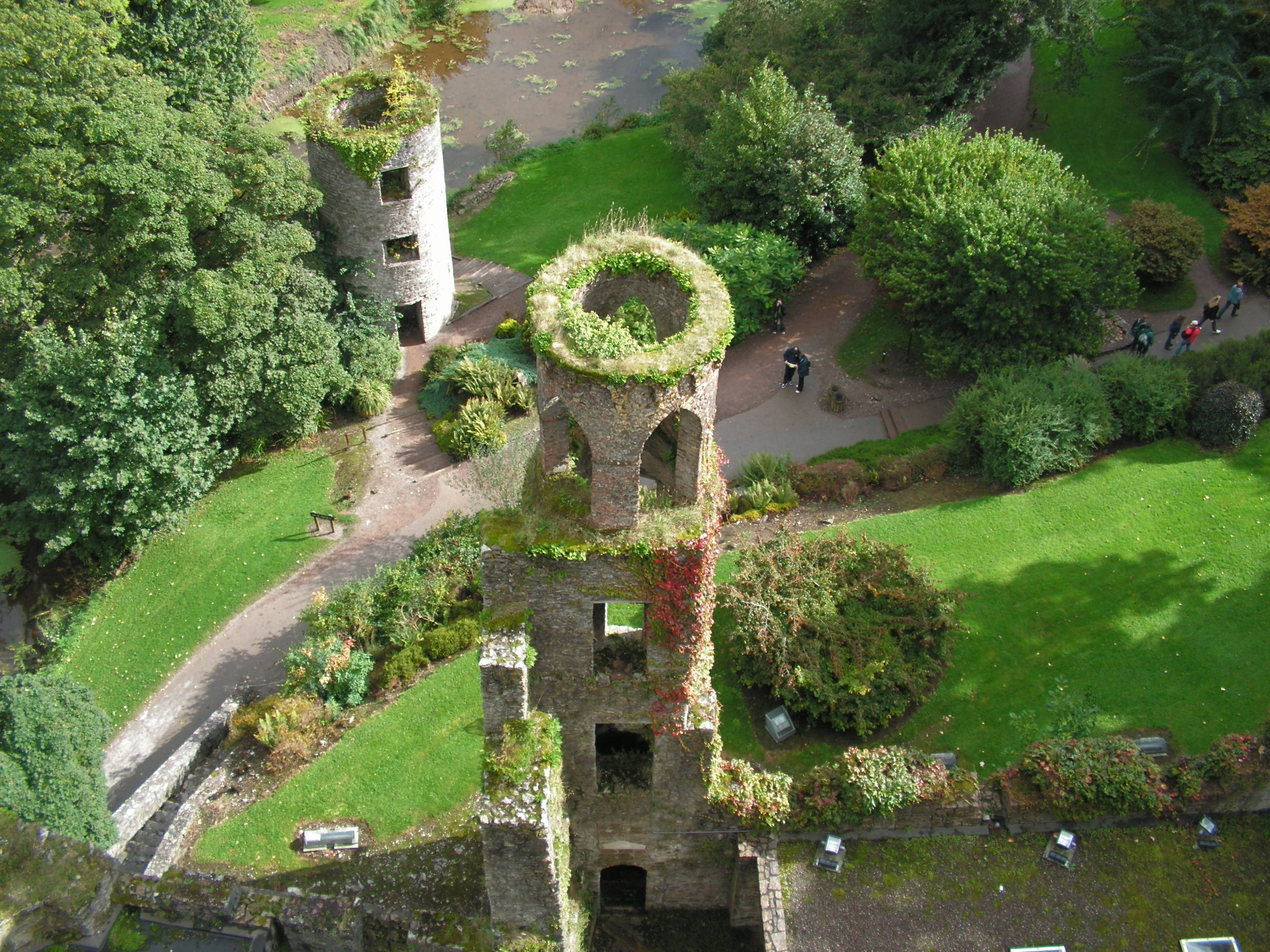 Towers from the top of Blarney Castle, Ireland