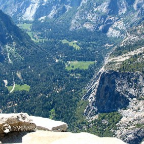 The Valley floor below - Ahwahnee Meadow and beyond