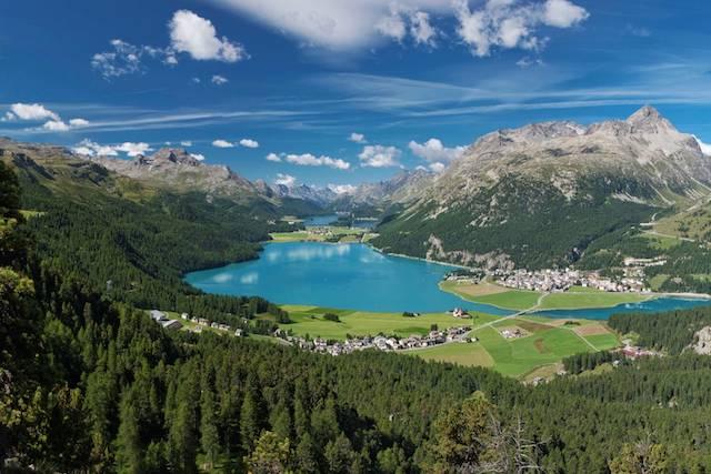 St Moritz Engadin mountain scene