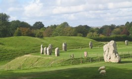 Avebury stone circle in sunlight