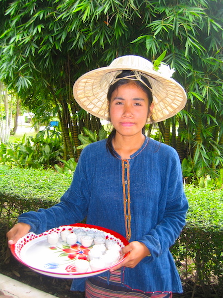 Touring Thailand on a bed of rice, local girl