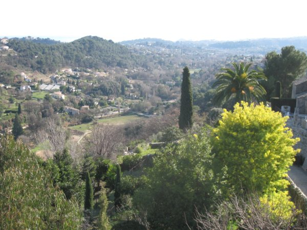 Renting a gite France, View from Vence