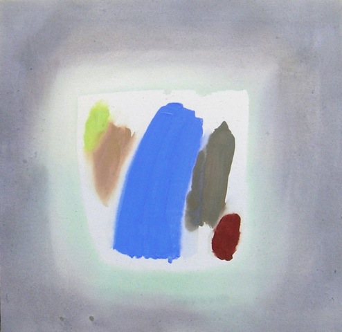 Perehudoff 80s abstract acrylic artwork known as a halo painting