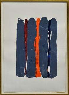William Perehudoff 80s paperwork with grey and orange