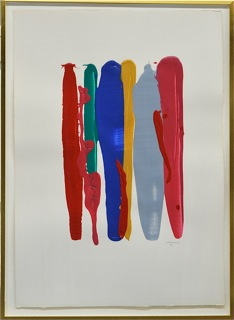 William Perehudoff paperwork with red and blue