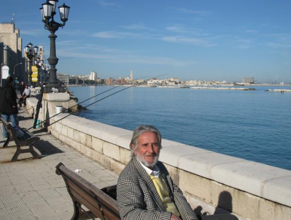 Visiting Puglia, Italy: man in Molfetta
