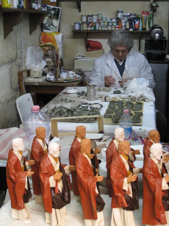 Paper mache saints in Lecce, Puglia