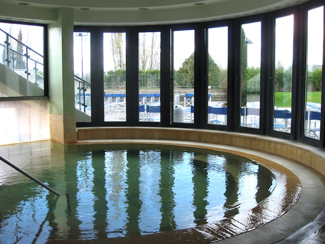 Indoor pool at Fonteverde hot springs spa resort, a thermal spa Tuscany