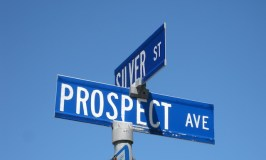 Prospect Street sign in Cobalt, Ontario