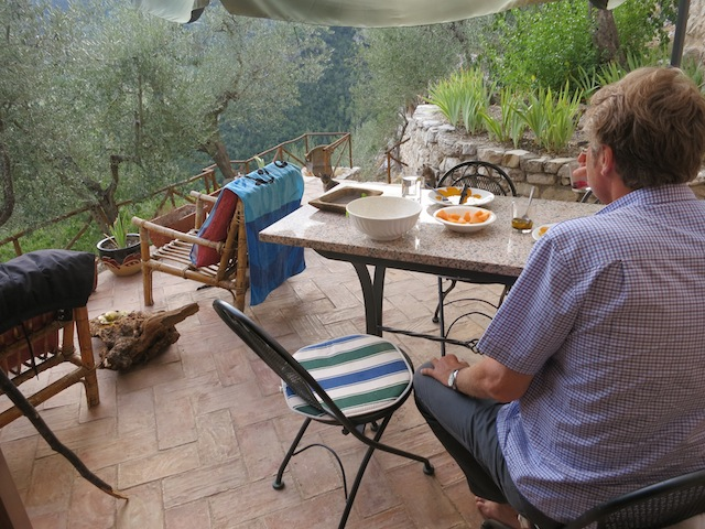 Falling for Ferentillo, Umbria, for the views from our vacation rental