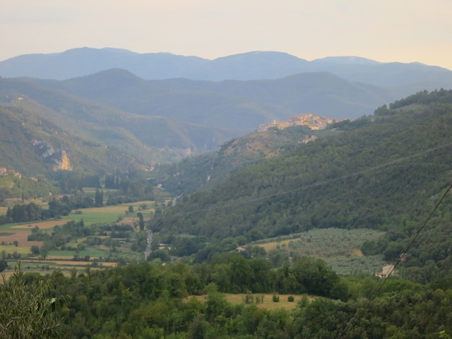 The hills of Umbria, falling for Ferentillo