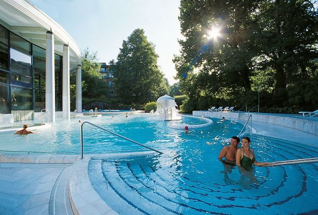 Caracalla Therme baths Baden-Baden Germany elegant spa town