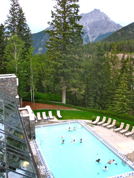 Outdoor pool at Fairmont Banff Springs Hotel