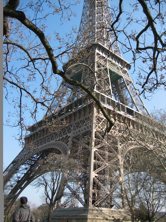 Writing the first chapter of a memoir, paris eiffel tower