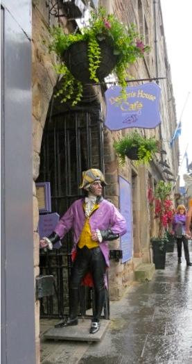 Street scene in Edinburgh Scotland