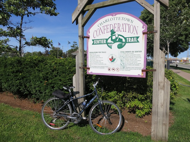 Cycling Confederation Trail in PEI, from Charlottetown