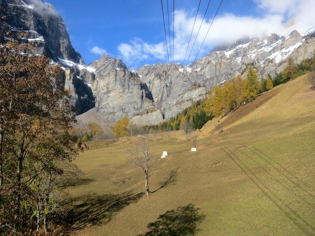 Gemmi Pass cable car Swiss Alps Valais canton