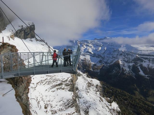 hiking Gemmi Pass Alps Leukerbad