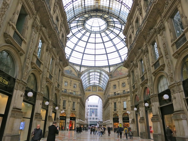 Luxury shopping Milan