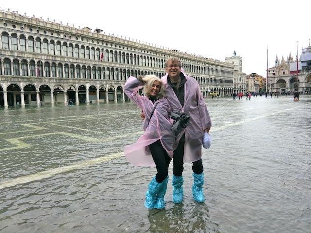 Aqua Alta in St Mark's Square, Venice