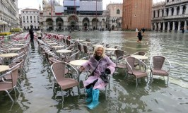 High water in St Mark's Square, Venice