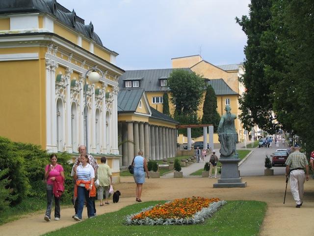 Beautiful Belle Epoque buildings in Frantiskovy Lazne Czech Republic